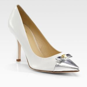 Kate Spade Paloma Metallic leather heels